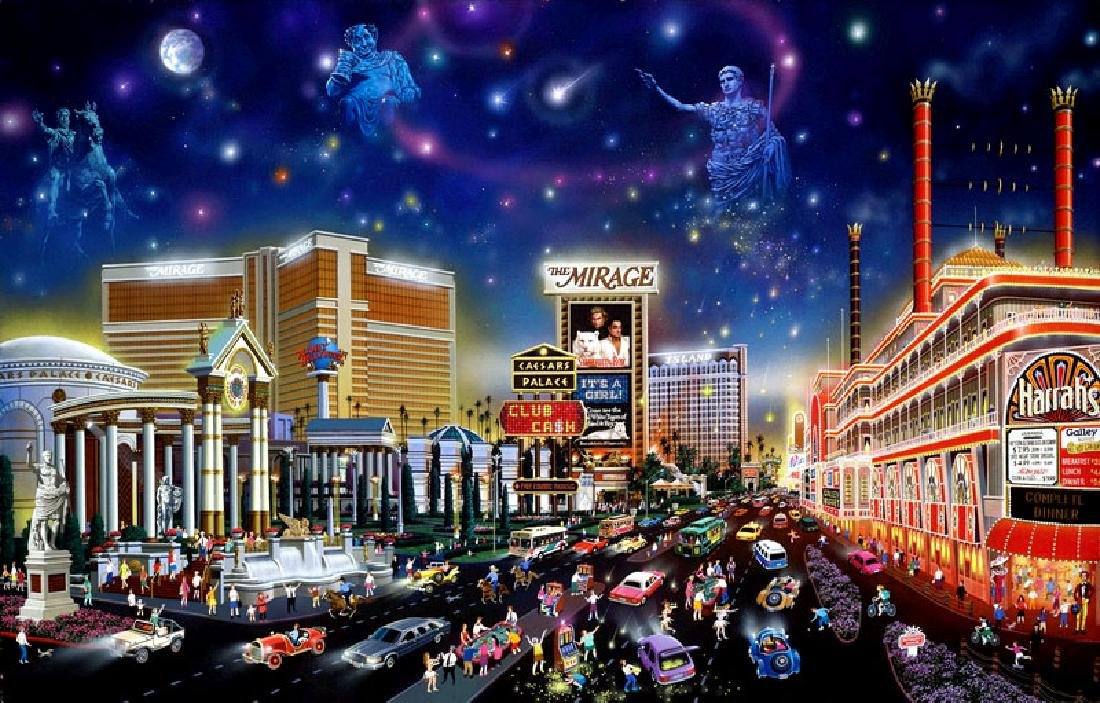 Vegas Lady Be Luck Limited Edition Art - 2