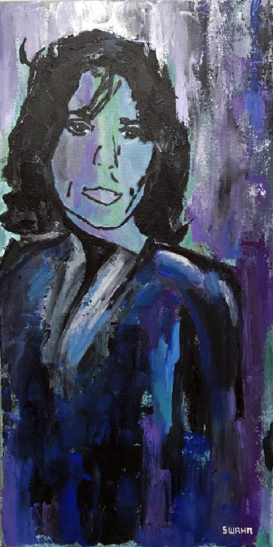 Mick Jagger Pop Art Original Painting on Canvas - 2