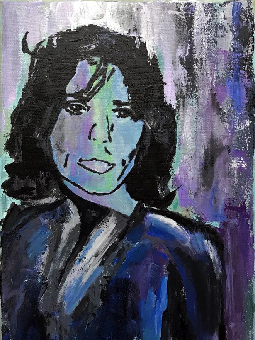 Mick Jagger Pop Art Original Painting on Canvas - 3