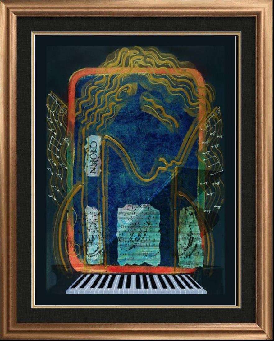 CHOPIN Hand Signed Original Painting CANVAS 40x30