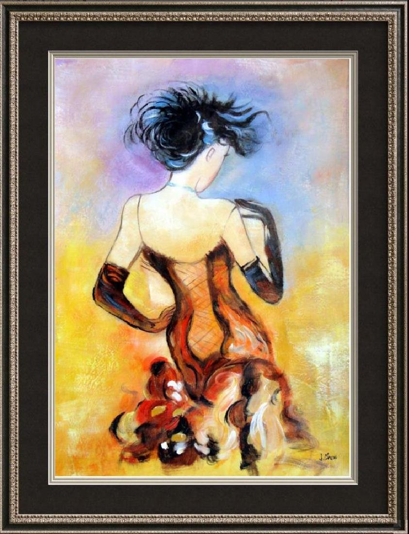 Moulin Rouge Original Painting on Canvas Signed Chen