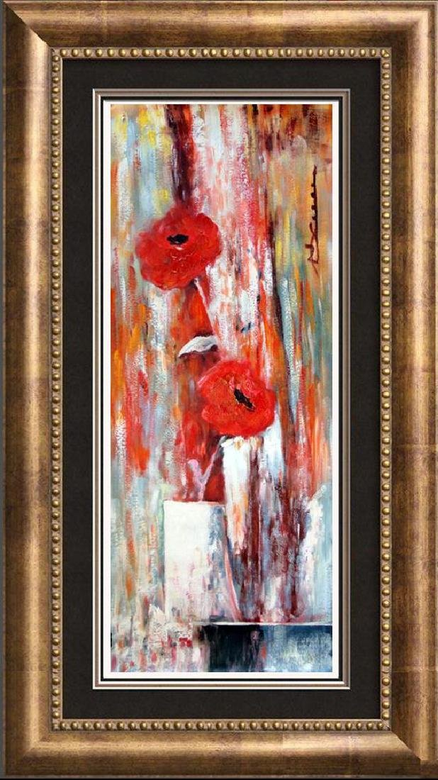 Floral in Vase Large Painting on Canvas Swahn Original - 3