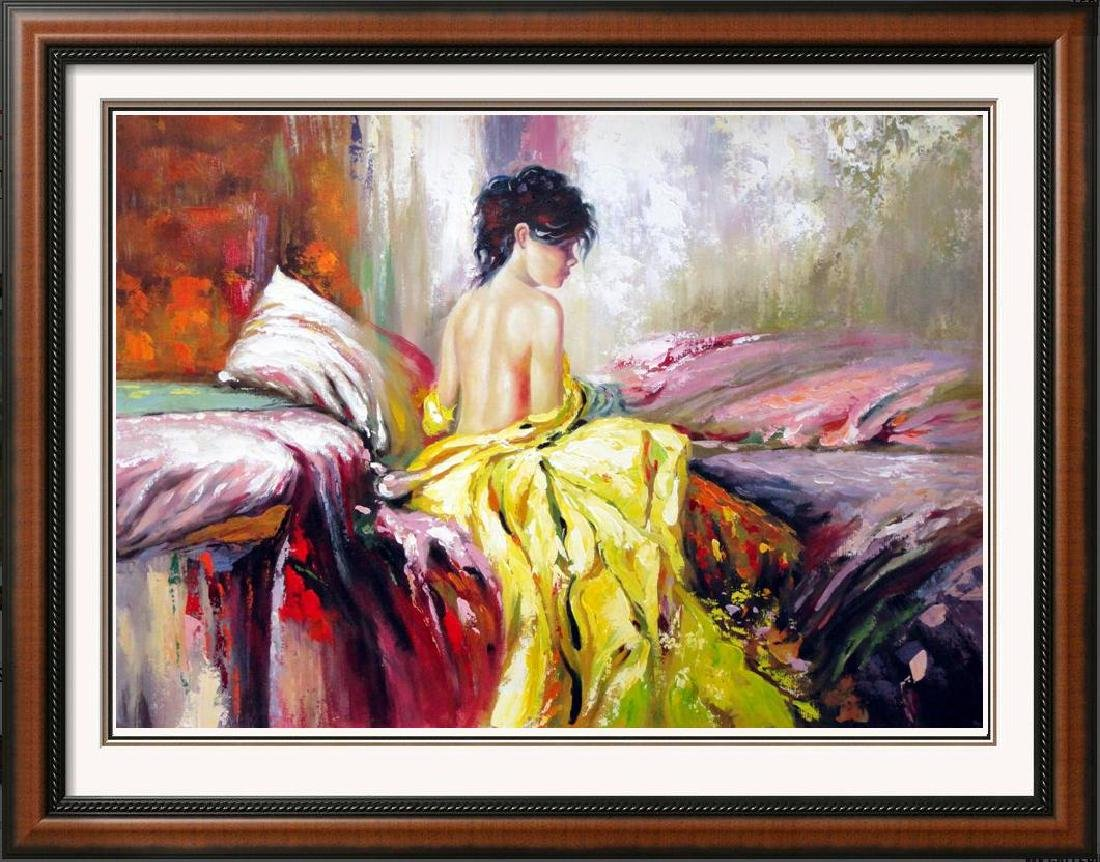 Impressionistic Large Painting on Canvas Pino Inspired