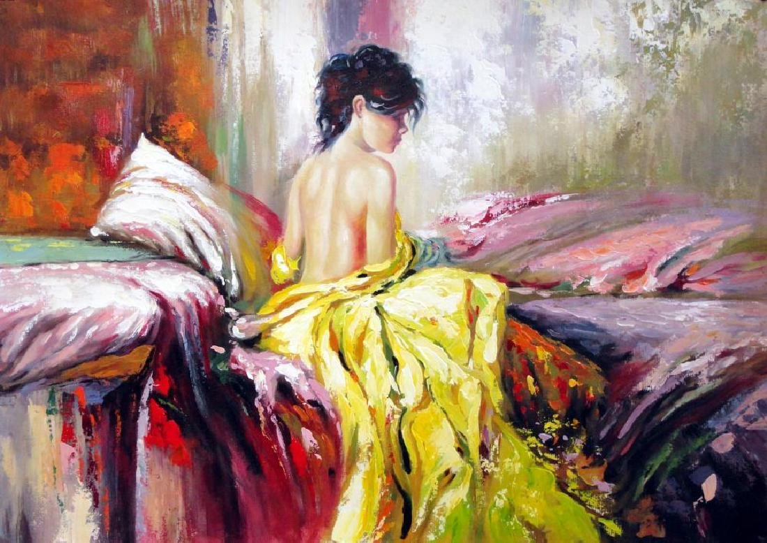 Impressionistic Large Painting on Canvas Pino Inspired - 2