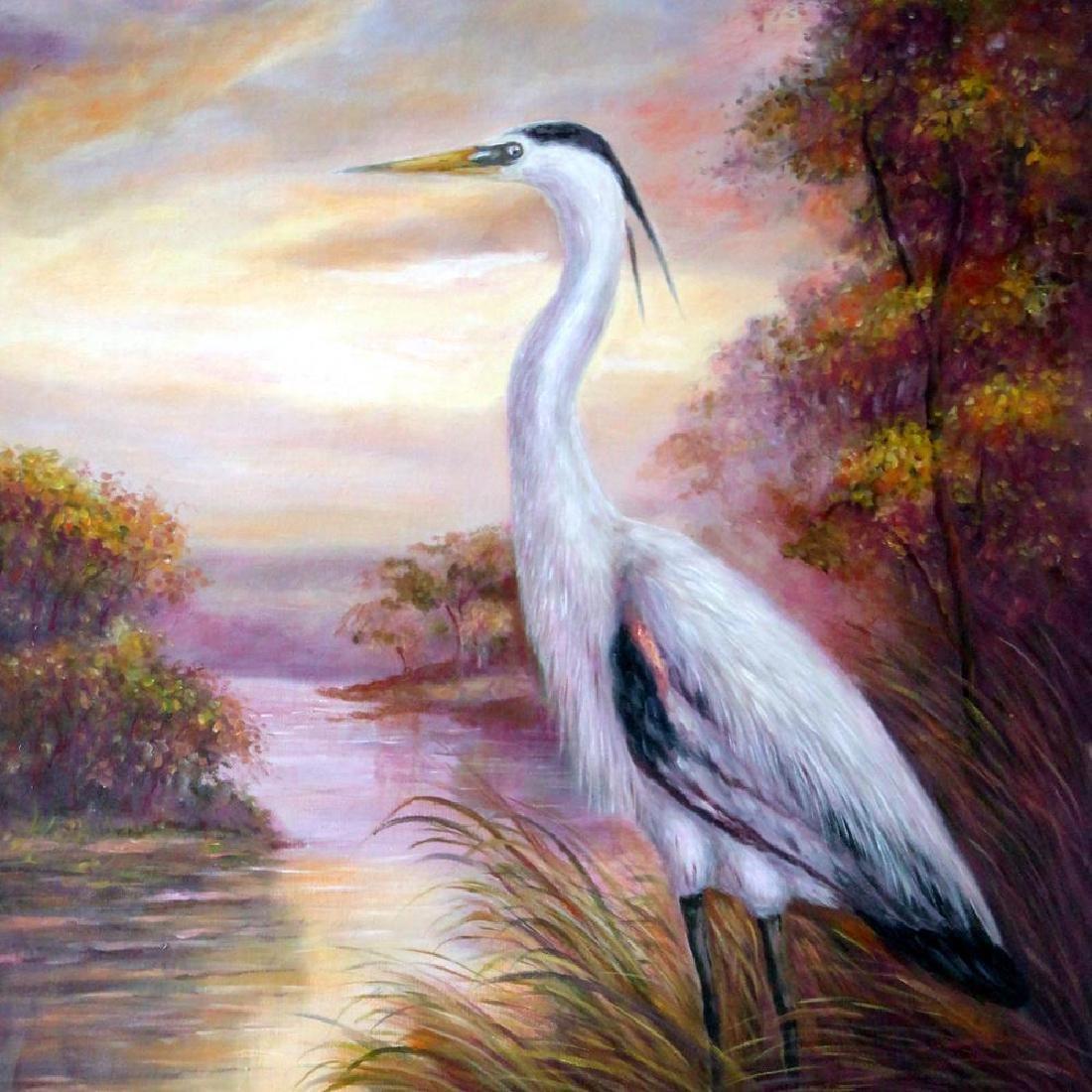MP Elliott Fantastic Marsh Egret Realism Colorful - 3