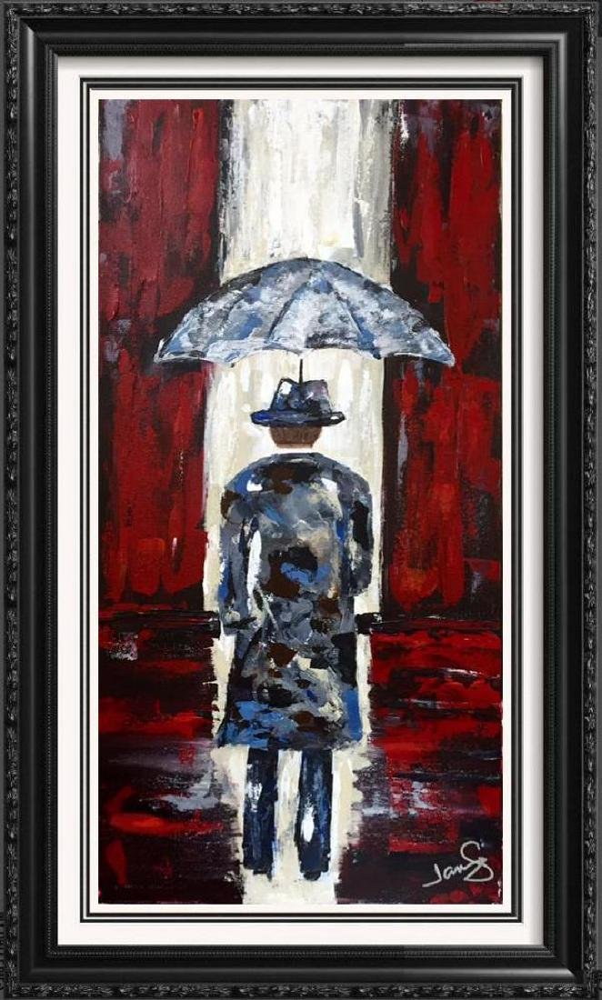 Modern Contemporary Abstract Original Umbrella Red &