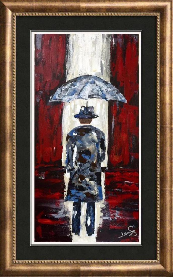 Modern Contemporary Abstract Original Umbrella Red & - 5