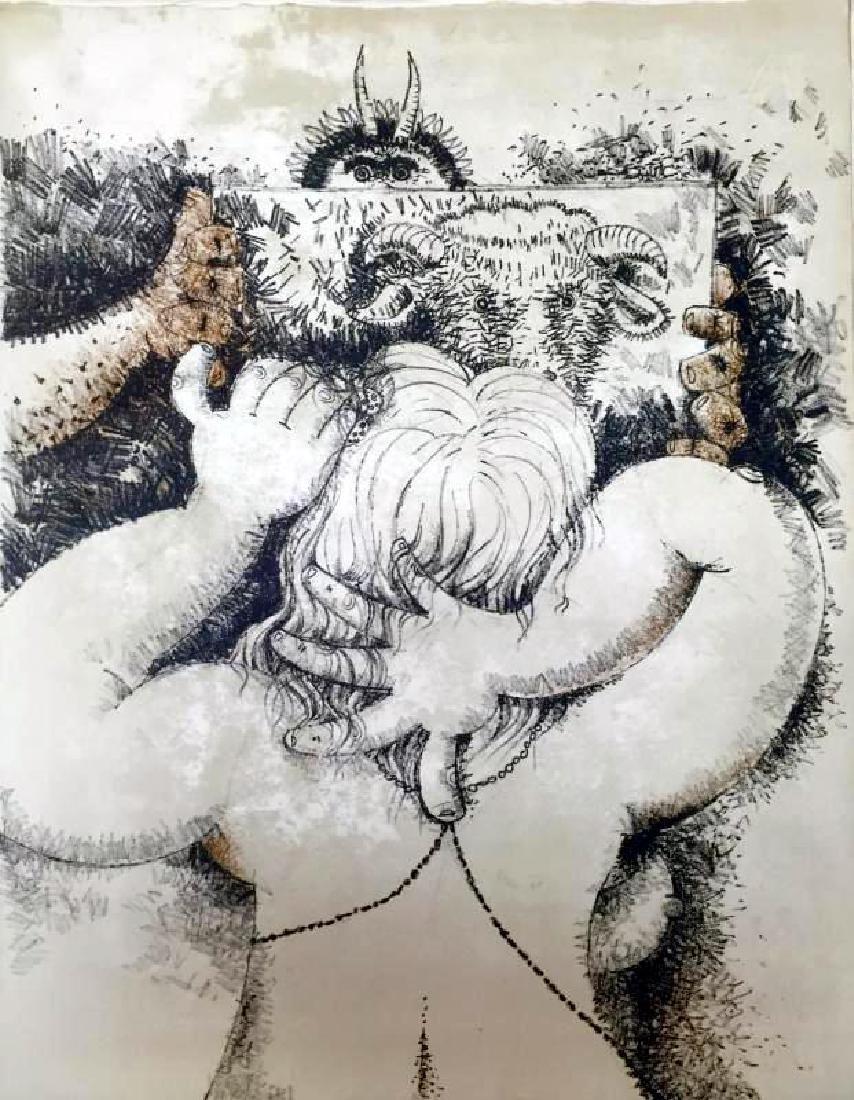 Federico Richi Plate Four The Art of Love c.1970 - 2
