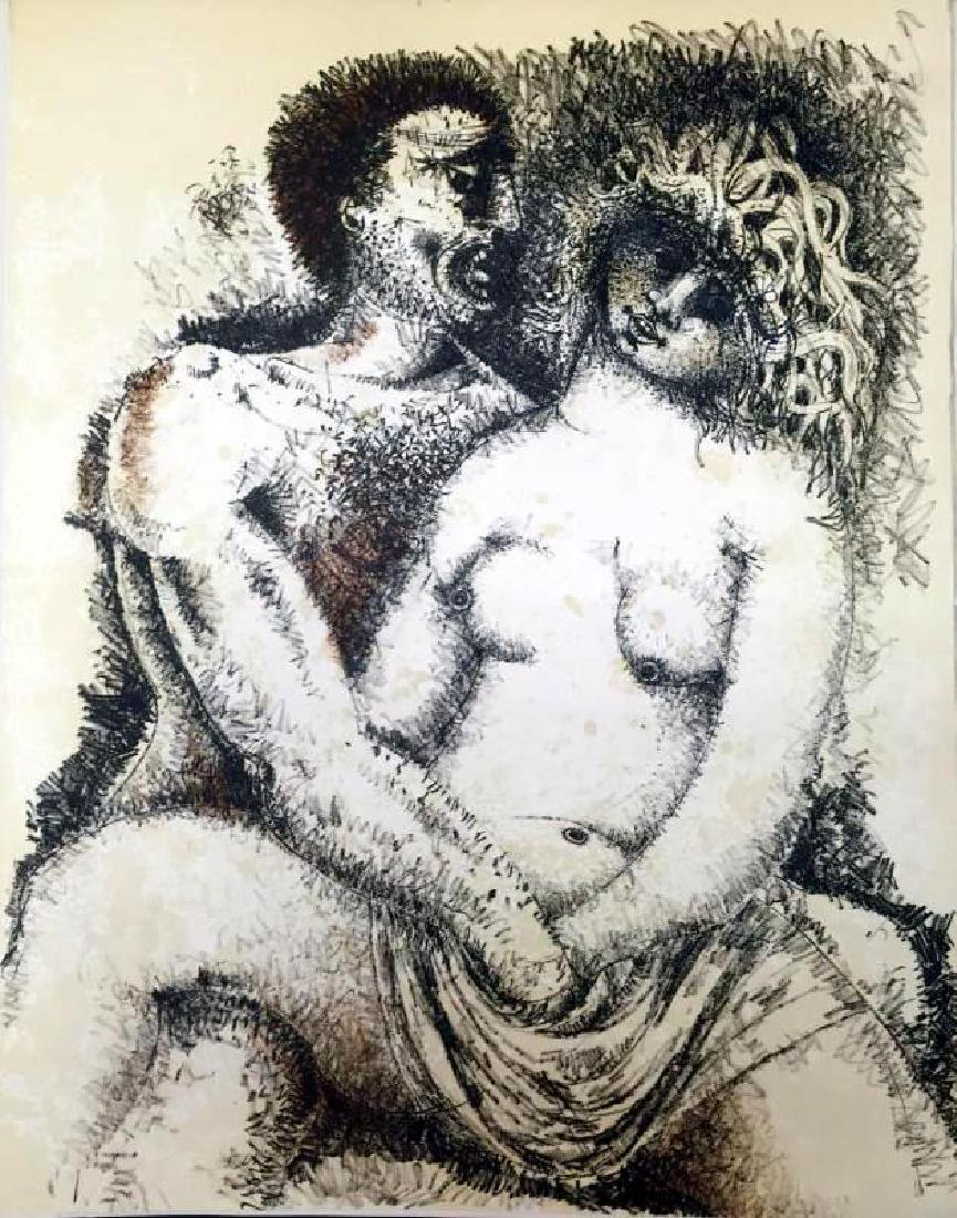 Federico Richi Plate Seven The Art of Love c.1970 - 2