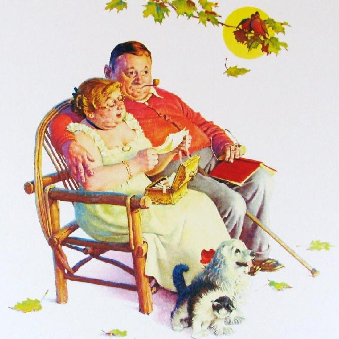 Norman Rockwell Vintage Plate Signed Lithograph Dealer - 3