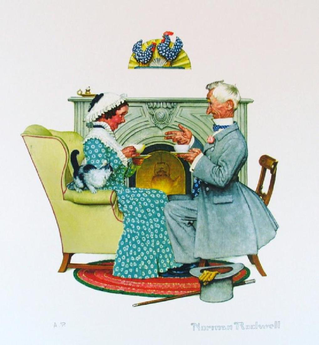 Norman Rockwell Vintage Plate Signed Lithograph Dealer