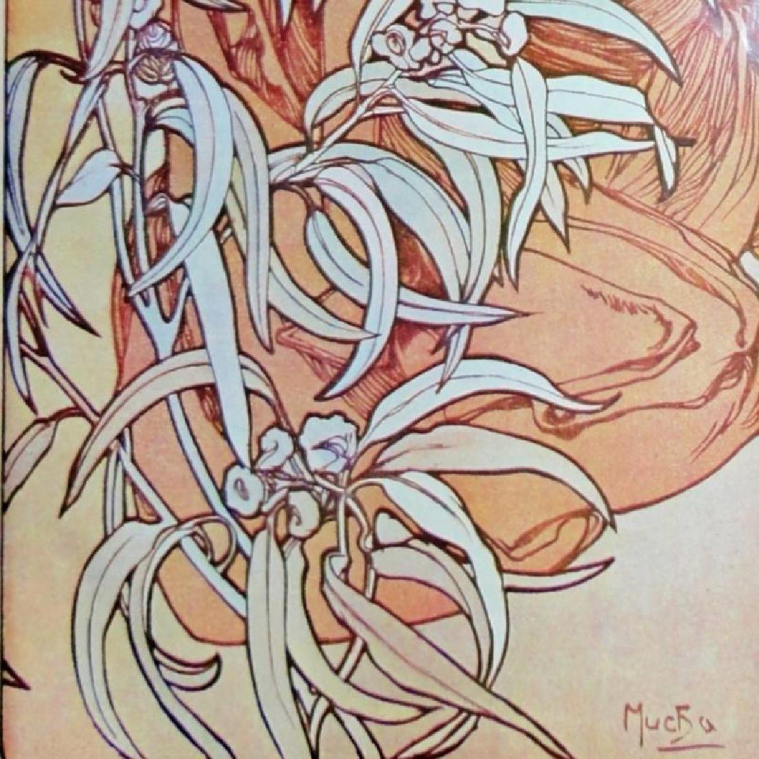 3 Large Mucha Repro Antique Poster Art Prints 48X18 - 9