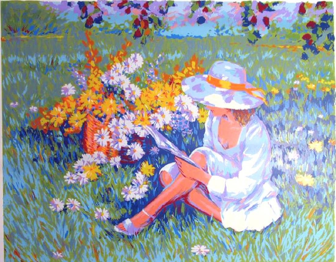 Floral Scene Limited Edition Girl In Sindress & Hat - 2