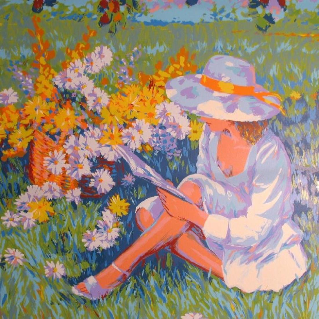 Floral Scene Limited Edition Girl In Sindress & Hat - 4