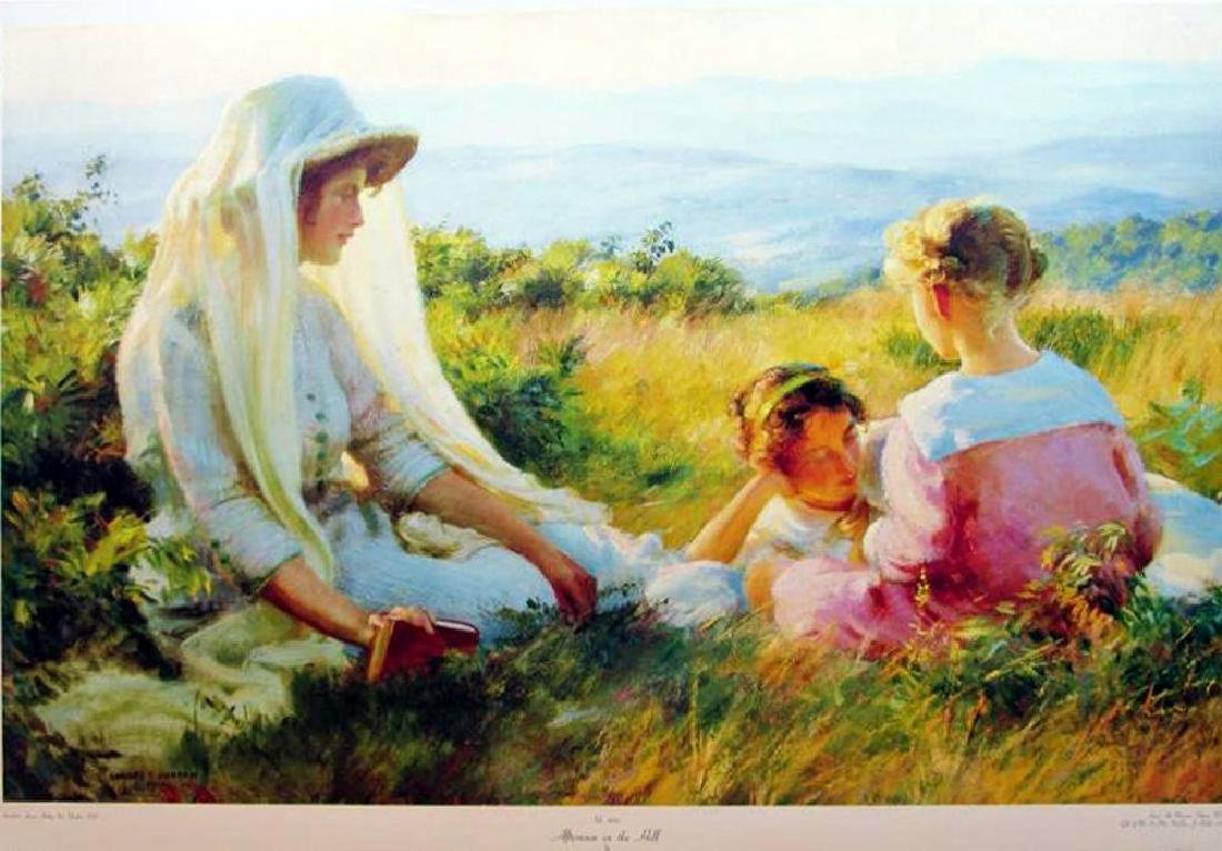 Charles C. Curran 1990 Afternoon On The Hill Made In - 2