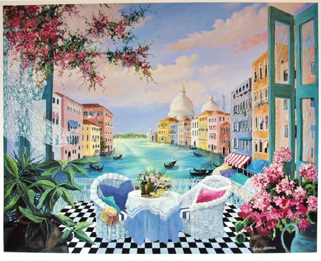 Venetian Garden Hand Signed Shari Hatchett - 2