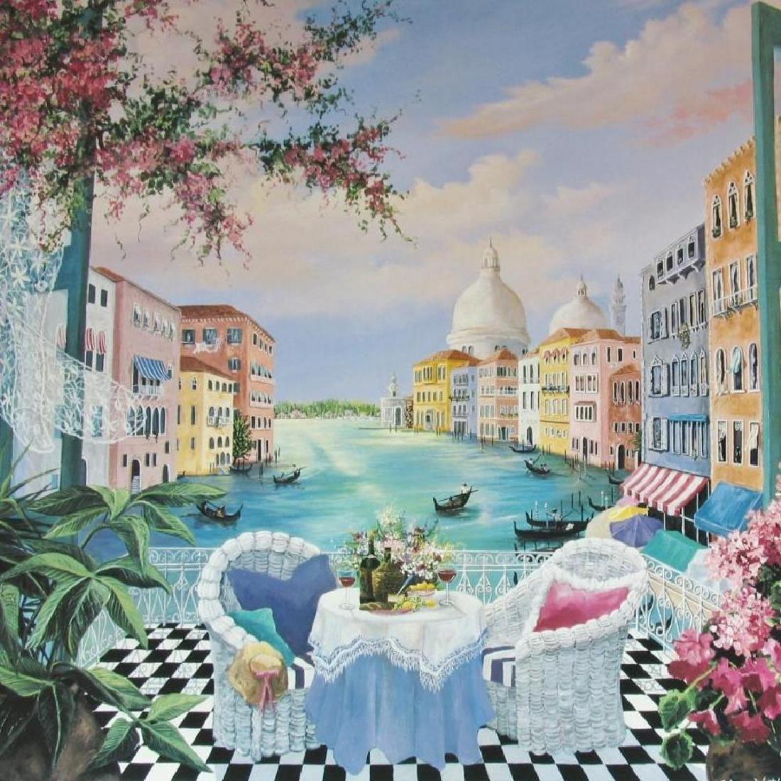 Venetian Garden Hand Signed Shari Hatchett - 3