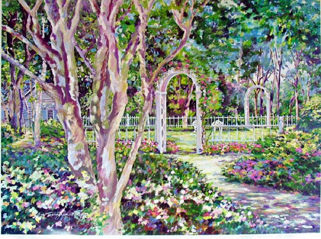 Sue Tushingham Mcmary Garden Arbors Pencil Signed