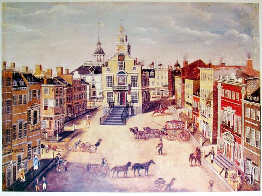 1989 Old State House Boston James B Marston Early 19Th