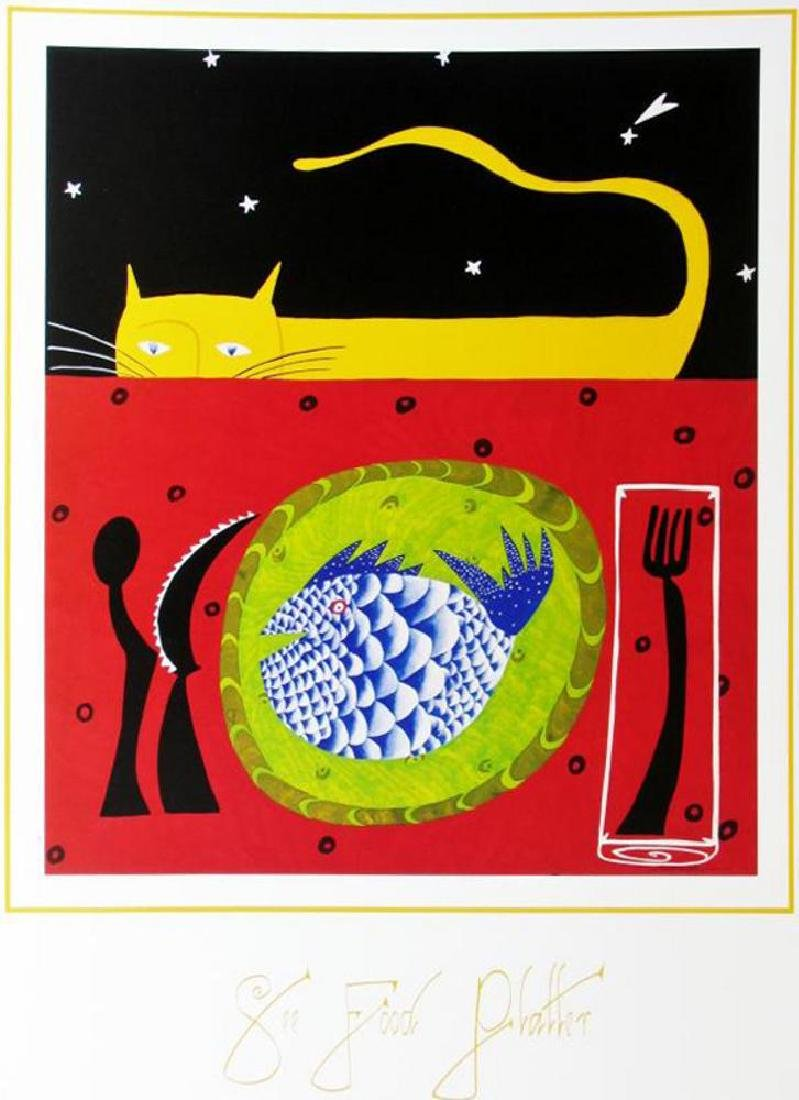 1998 See Food Platter Hubbard Abstract Pop Whimsical