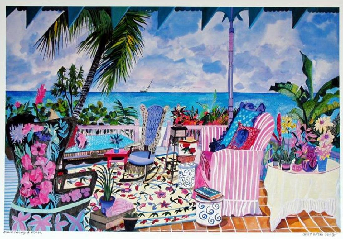 Hand Signed Tropical 1987 Eileen Seitz Jennifer - 2