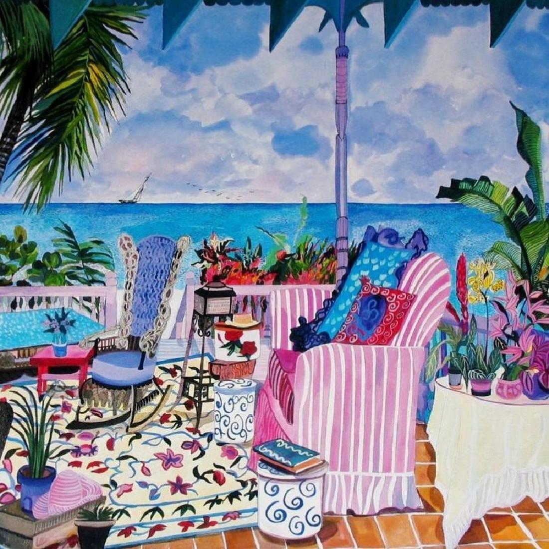 Hand Signed Tropical 1987 Eileen Seitz Jennifer - 3