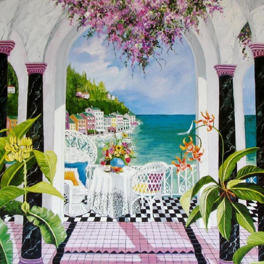 Shari Hatchett Bohemann Signed Tropical View Colorful - 3