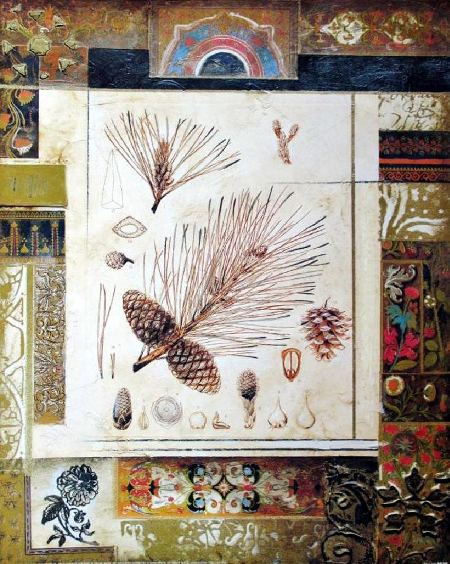 Neo Classical Alexandria Alexander Gold Leaf Abstract - 2
