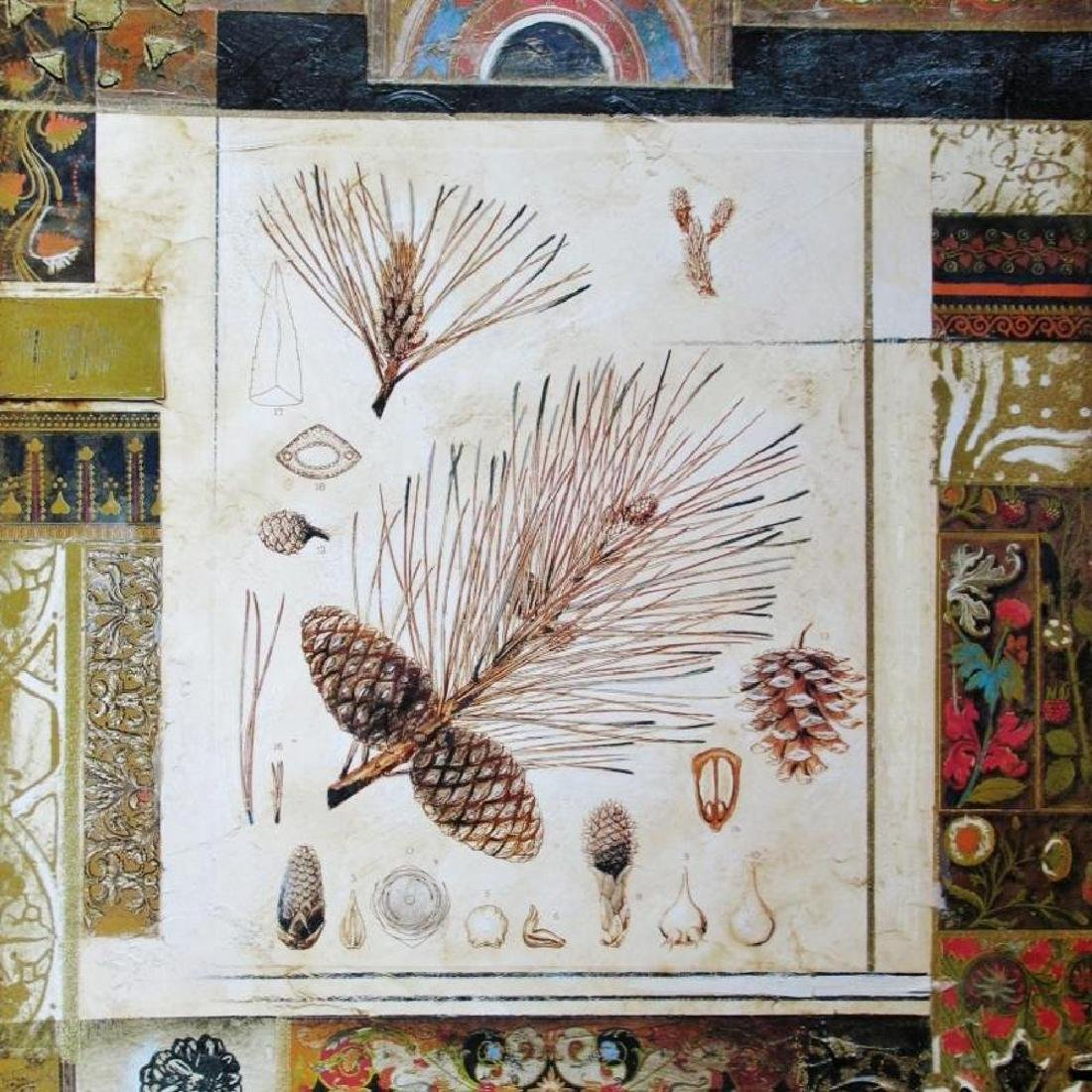 Neo Classical Alexandria Alexander Gold Leaf Abstract - 3