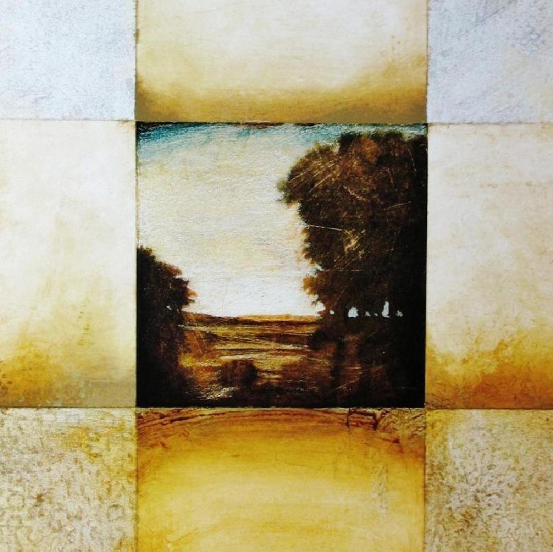 Abstract Landscape Geometric Earth Tone 1998 Printed In - 2