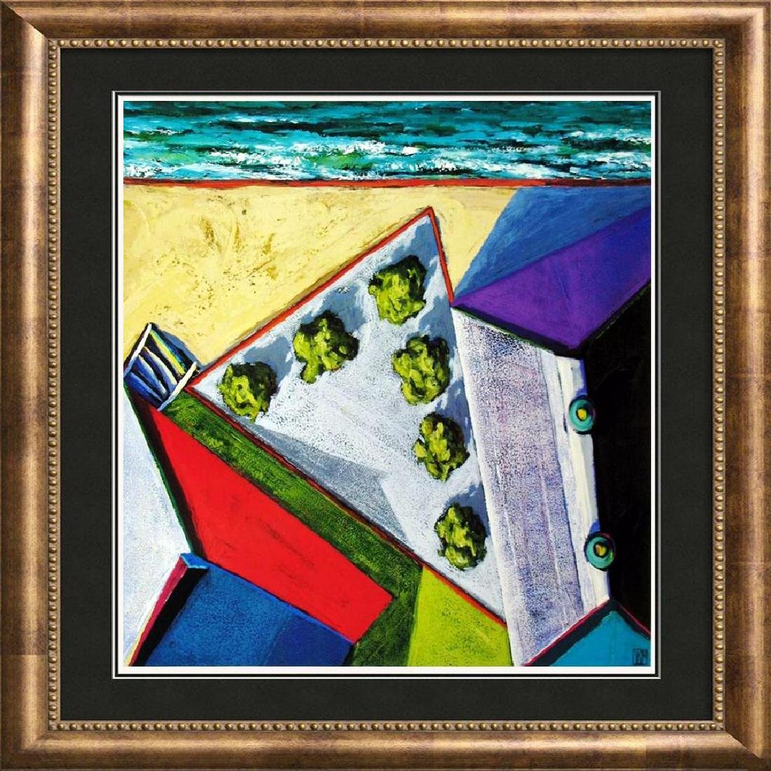 Abstract Modern Art Print Architectural Birds Eye View