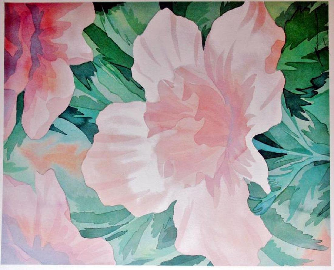 Robert White 1998 Pink Rose On Arches - 2