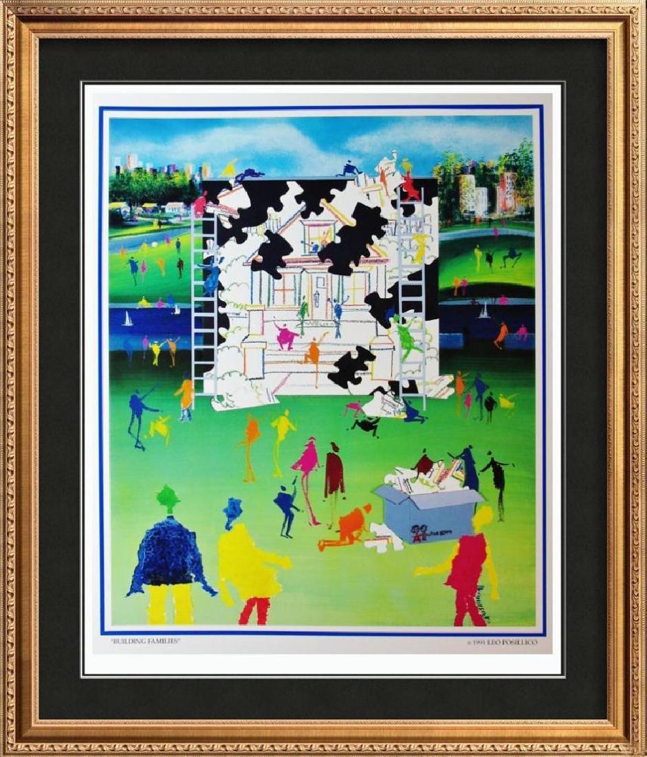 Posillico Building Families Colorful Pop Poster