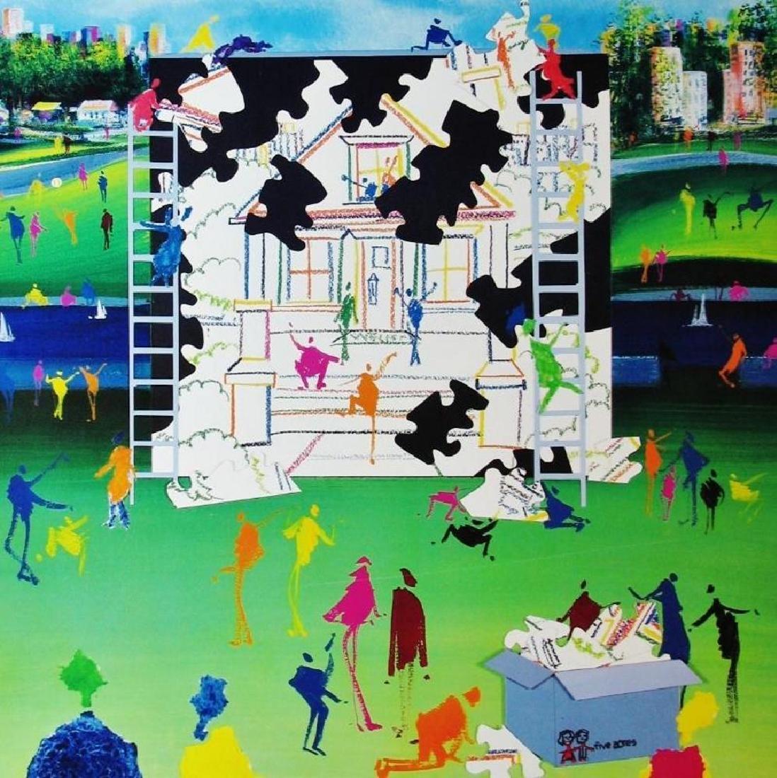 Posillico Building Families Colorful Pop Poster - 2