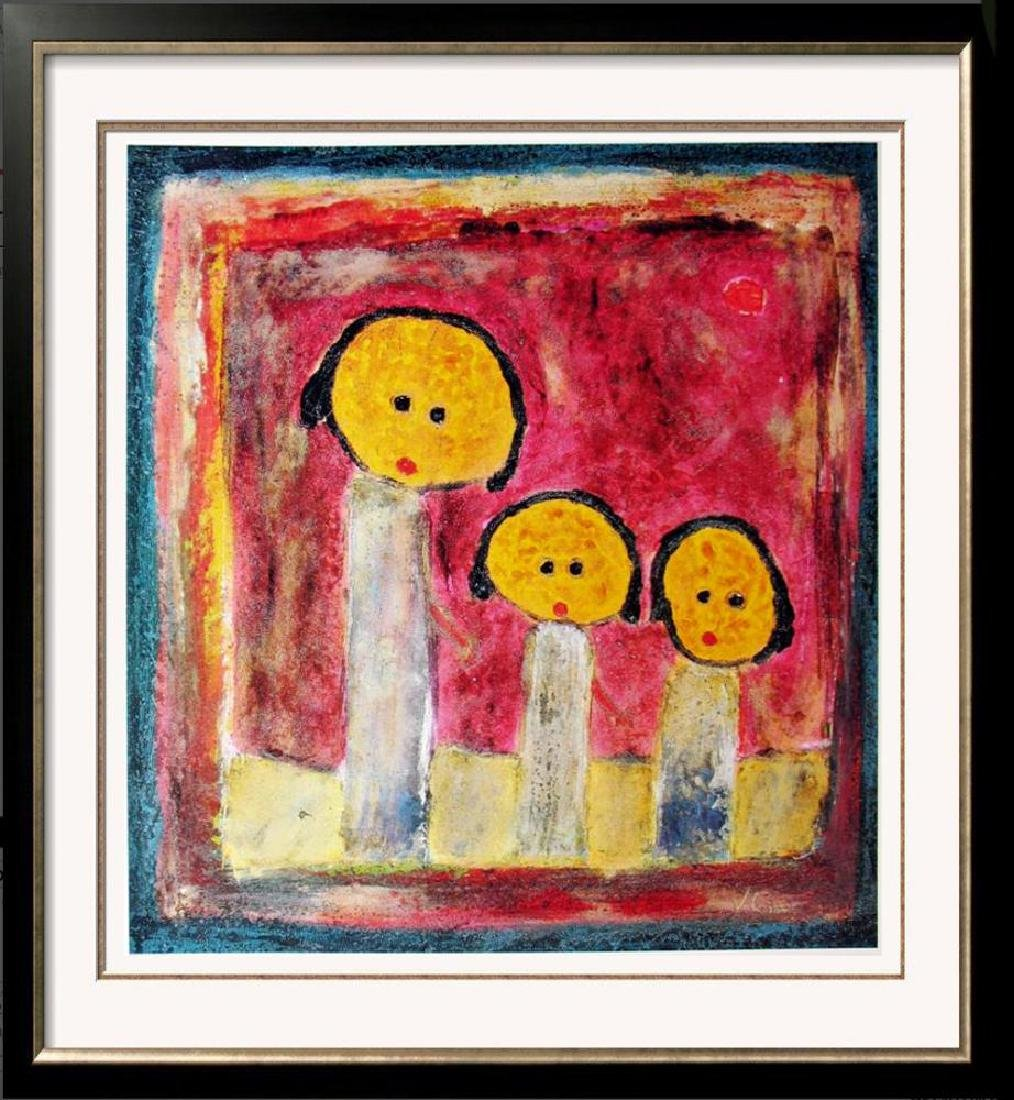 Naïve Abstract Figurative Modern Poster Colorful