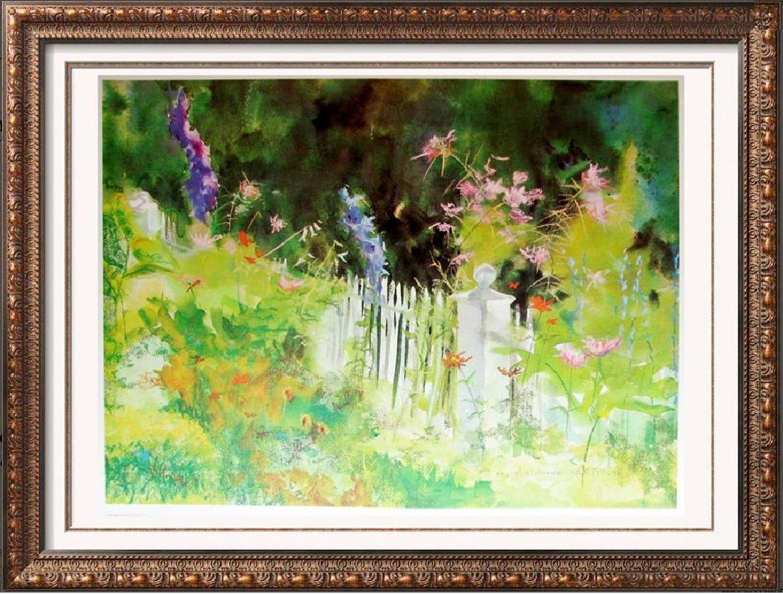 Plate Signed Beautiful Floral Garden Botanical Print