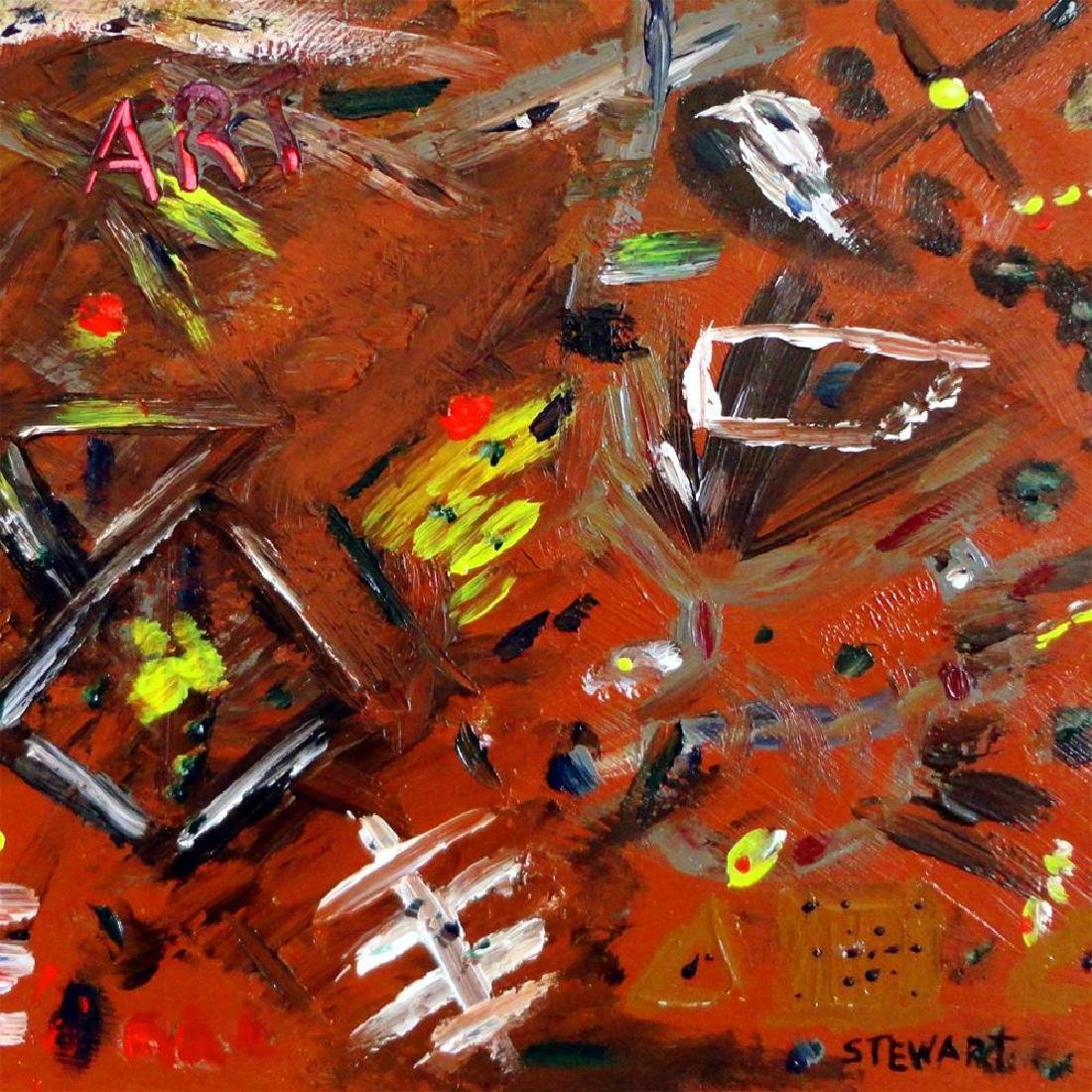 Fantastic Original Painting on Board Abstract Modern - 2