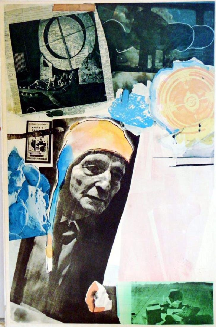 Fantastic Find Robert Rauschenberg Collage Lithograph - 2