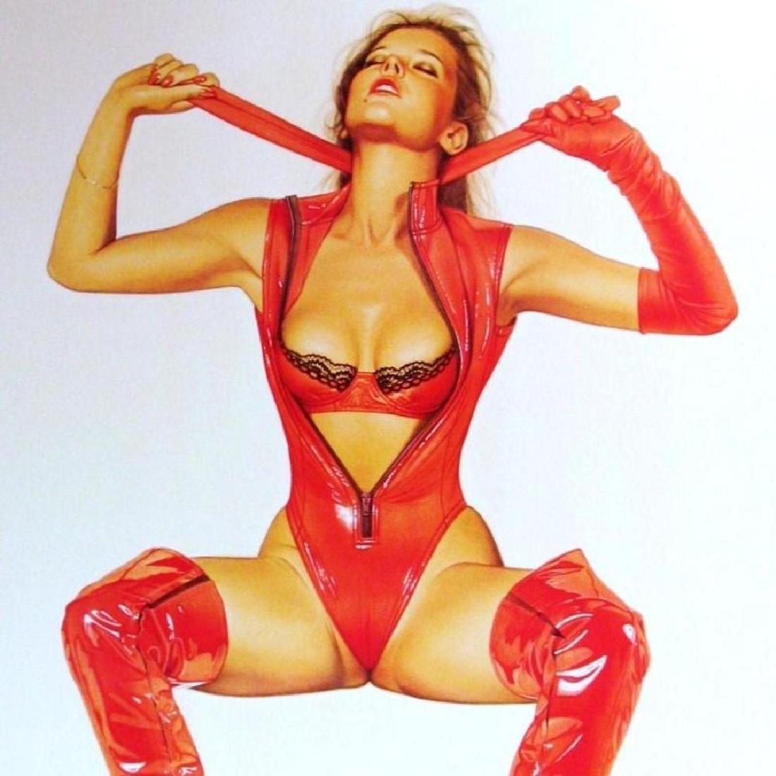 Sorayama Print Erotic Nude Red Leather Large - 3