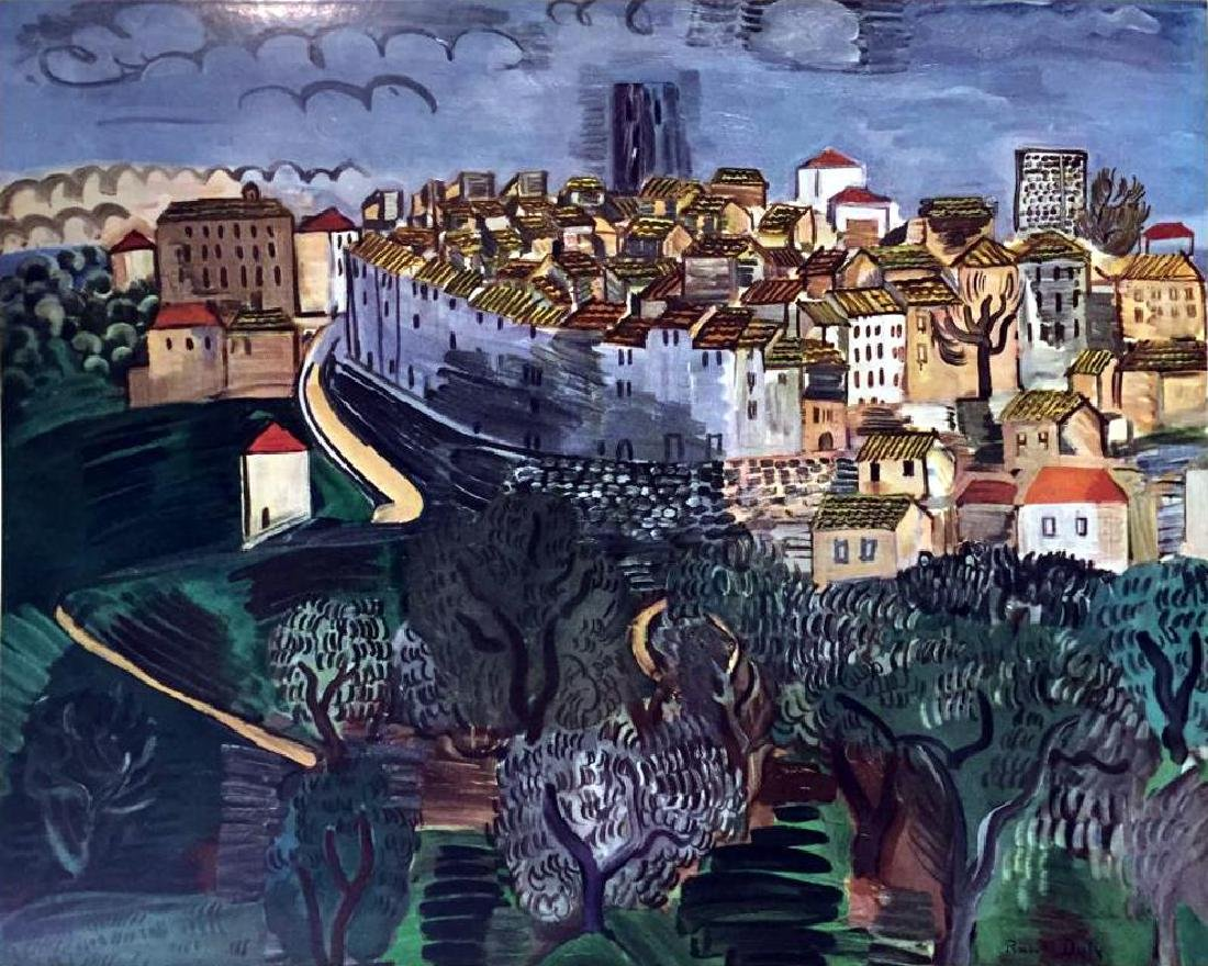 Raoul Dufy Vence c.1923 Fine Art Print Signed in Plate - 2