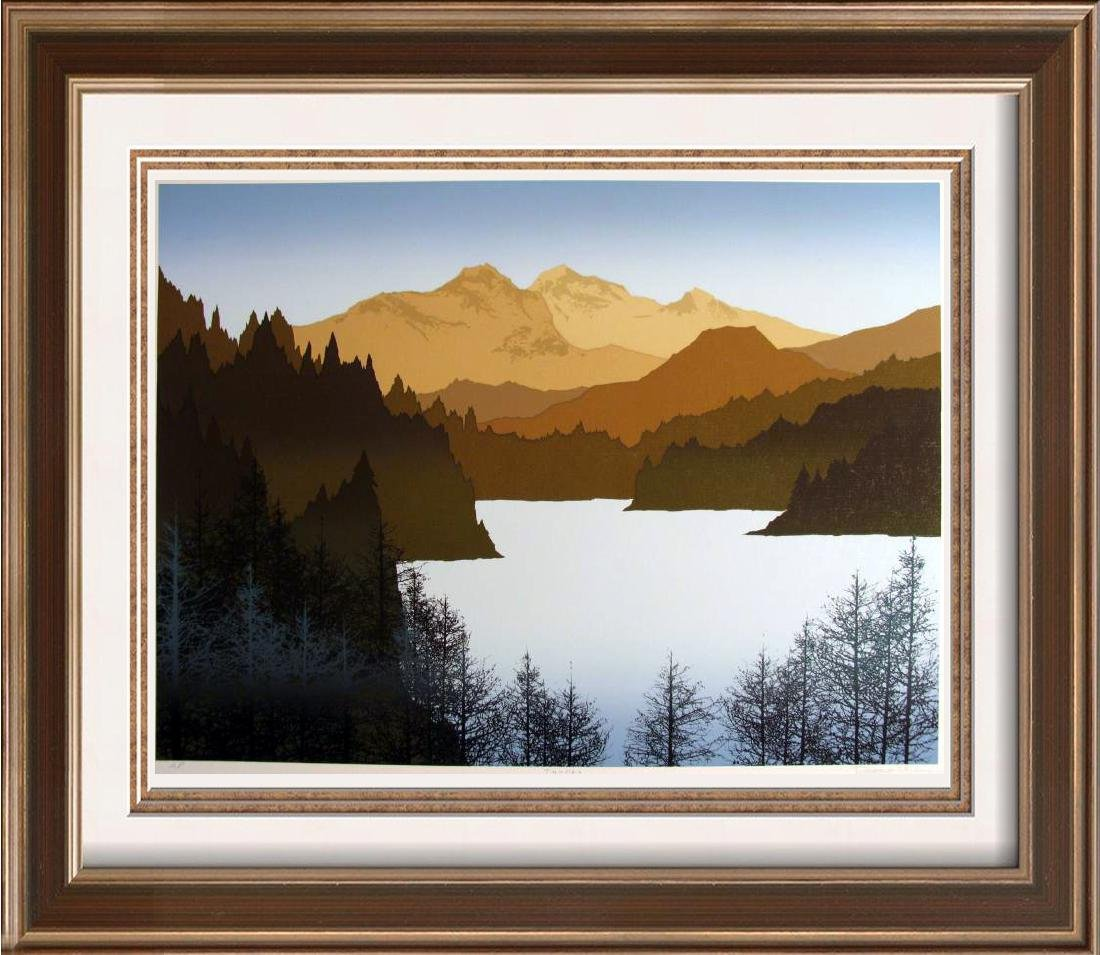 Artist'S Proof Limited Edition Earth Mountain Abstract
