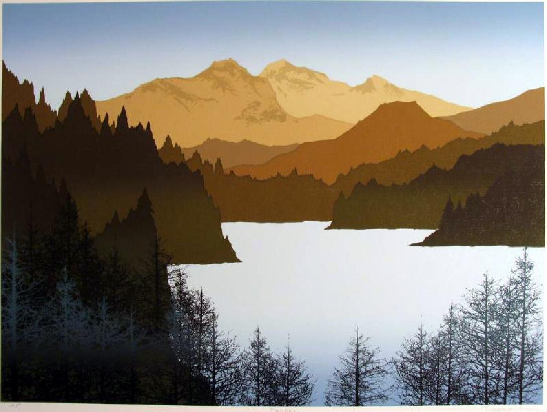 Artist'S Proof Limited Edition Earth Mountain Abstract - 2
