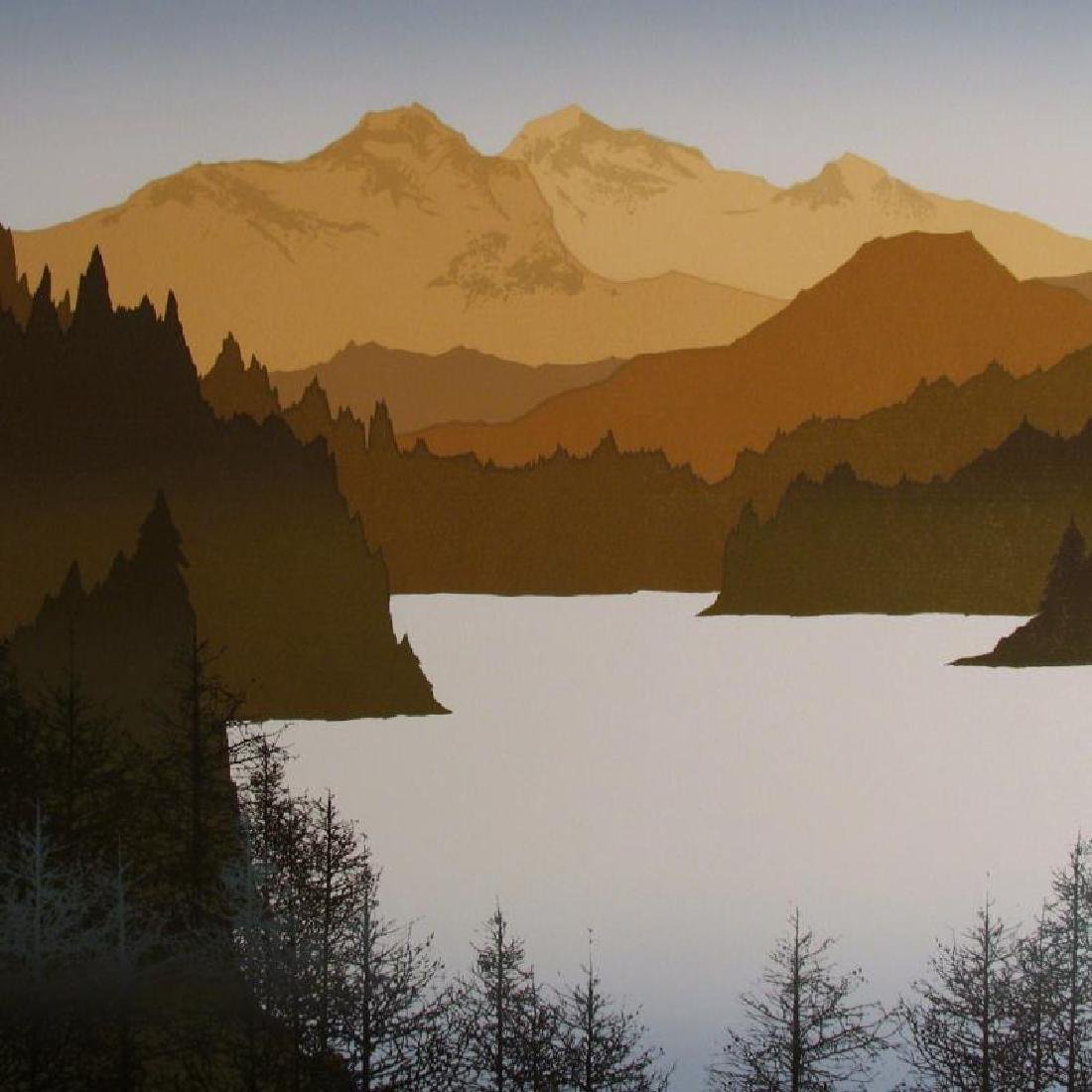 Artist'S Proof Limited Edition Earth Mountain Abstract - 3