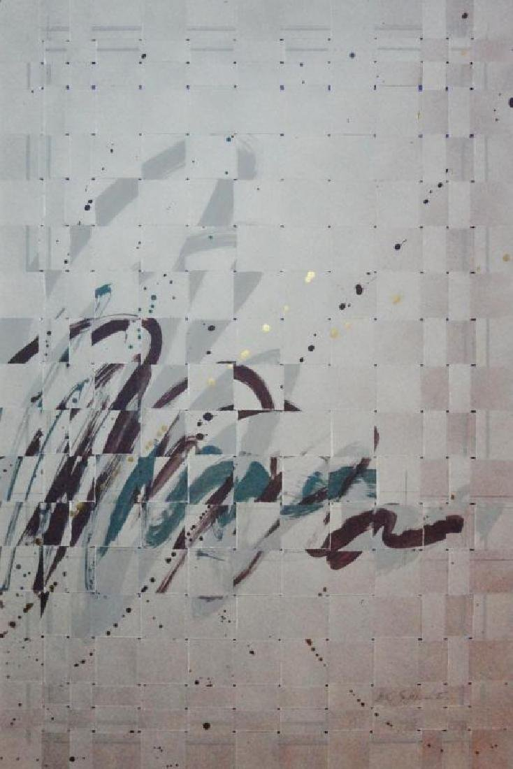 2 Piece Textured Weaved Mixed Media Abstract Modern Art - 5