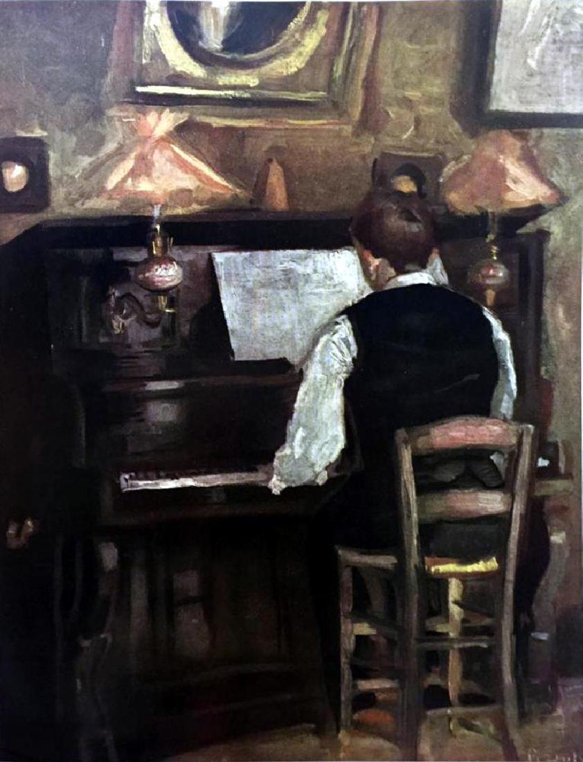 Raoul Dufy M. Gaston Dufy at the Piano c.1897-98 Fine - 2