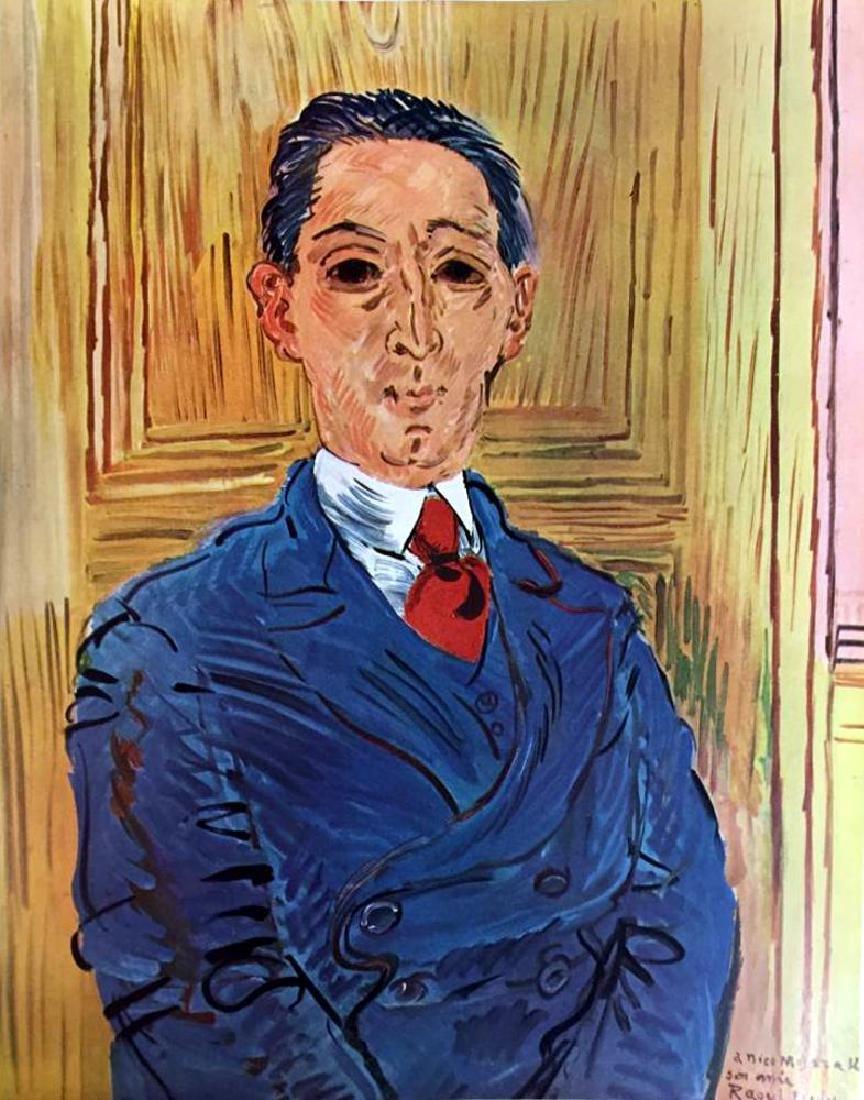 Raoul Dufy Portrait of M. Nico Mazaraki c.1932 Fine Art - 2
