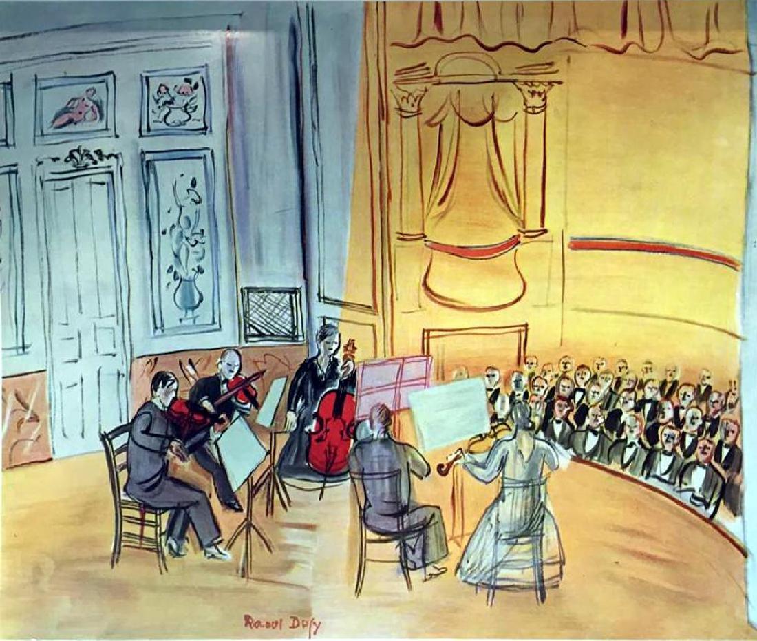 Raoul Dufy Chamber Music c.1948 Fine Art Print Signed - 2
