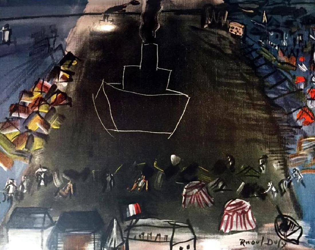 Raoul Dufy Black Freighter II c.1948 Fine Art Print - 2