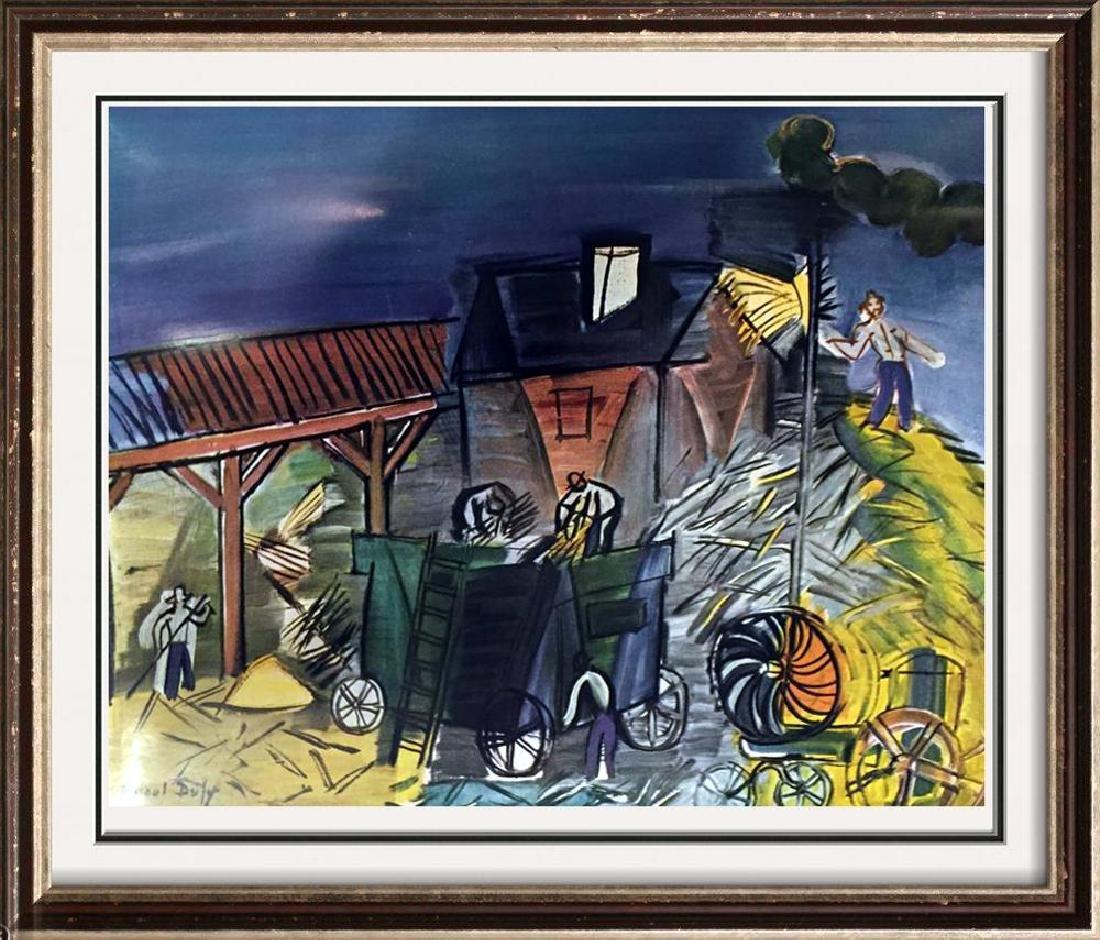 Raoul Dufy Threshing c.1949 Fine Art Print Signed in