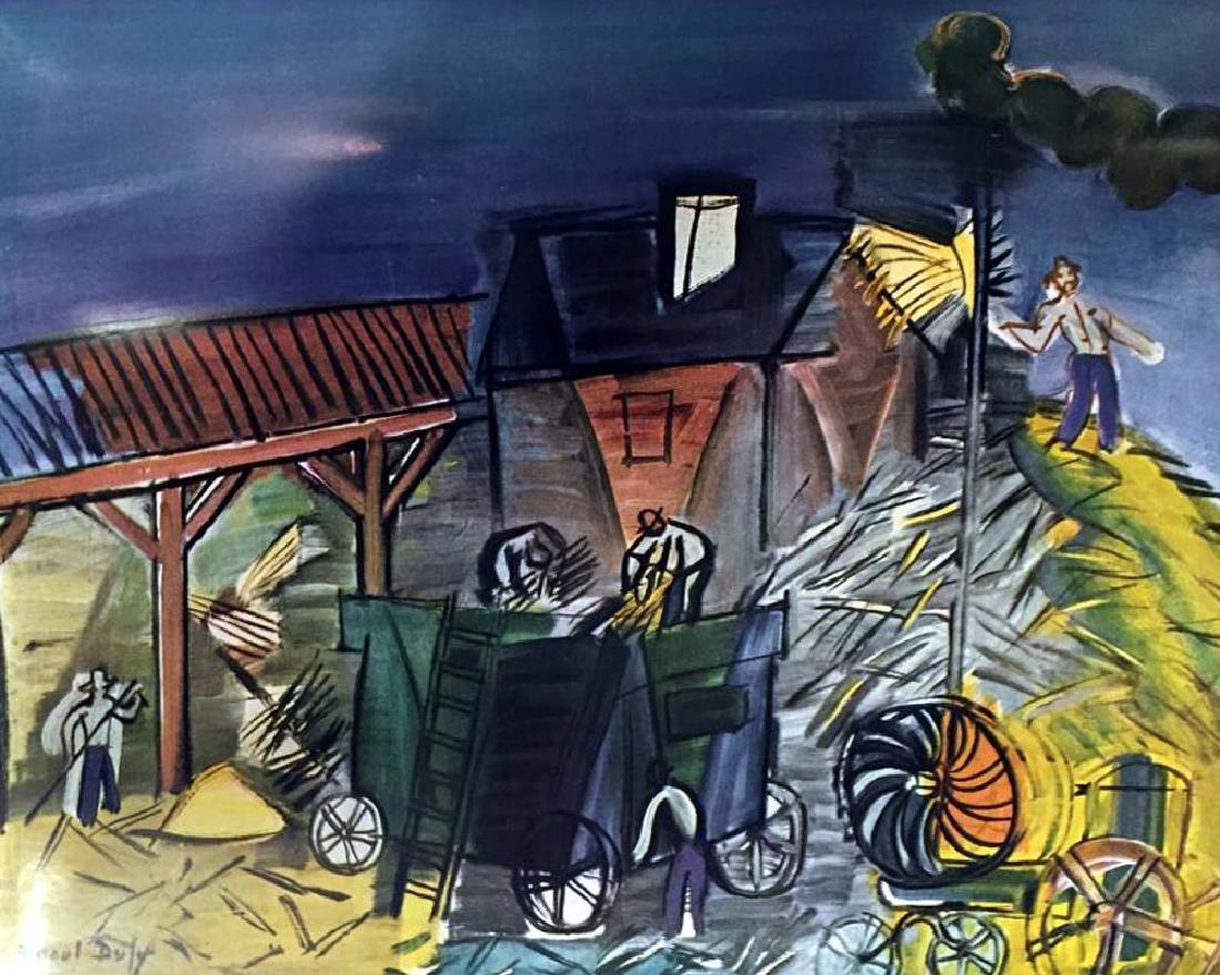 Raoul Dufy Threshing c.1949 Fine Art Print Signed in - 2